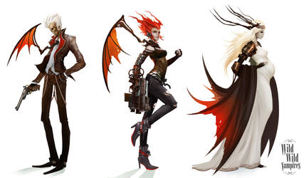 Wild Wild Vampires - Characters Lineup by Eyardt