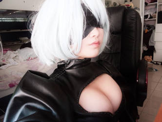 Nier Automata 2B Cosplay WIP by DatAsianChick