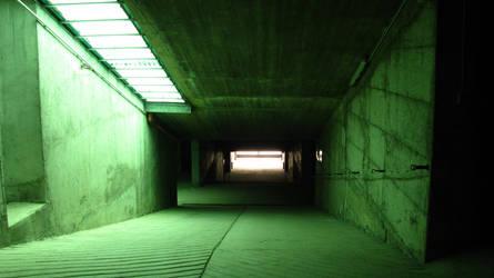 Green to orange tunnel by lollotek