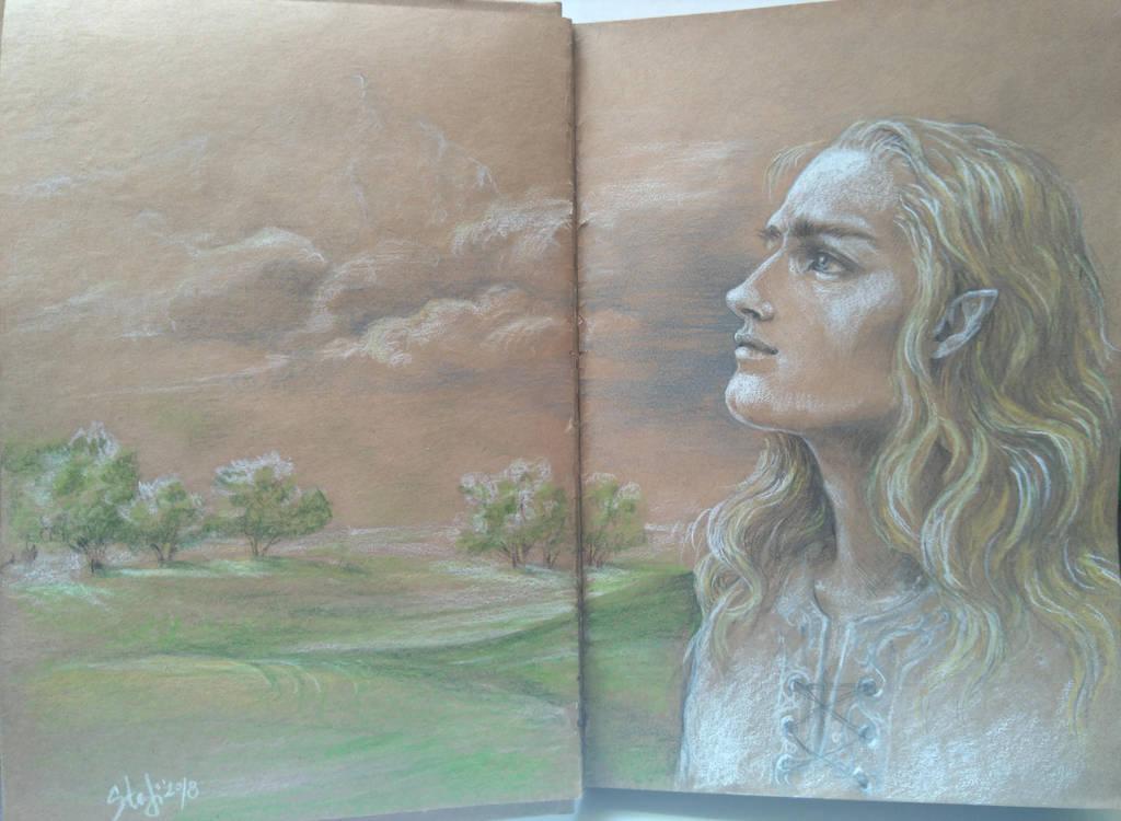 Finrod Felagund_Leaving Aman by sstefiart
