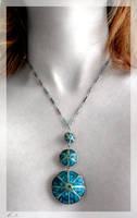Mystic Blue - Necklace by ph0t0k1tty