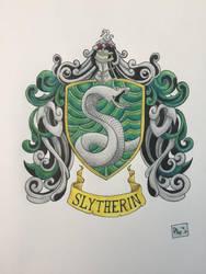Slytherin House Crest by dalescott78