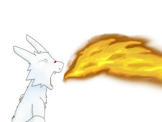 Chibisuke breathing fire. by KallusTail