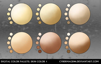 Digital pallete: Skin color 1 by Cybermage86