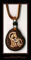 Striped Hyena Totem Pendant by Foxfeather248