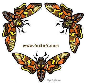 95ad99dd1 Foxfeather248 21 1 Death's Head Moth Trio Tattoo by Foxfeather248
