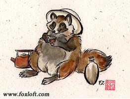 Tanuki Tea by Foxfeather248