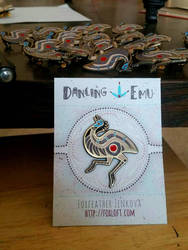 Dancing Emu Enamel Pins by Foxfeather248