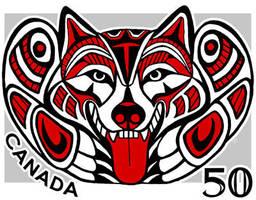 Haida malamute stamp by Foxfeather248