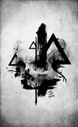 Triangle Skull by 187designz