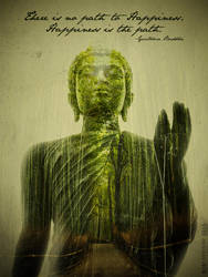 Buddha's path... double exposure by 187designz