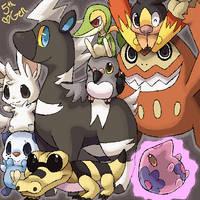 5th Gen Pokemon by spiffychicken