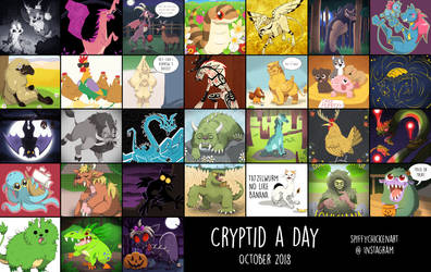 Cryptid-a-Day by spiffychicken