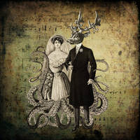 Mrs Tentacles and Mr Foghorn by DeerDandy