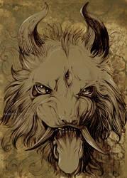 Chinese dragon-demon by akreon