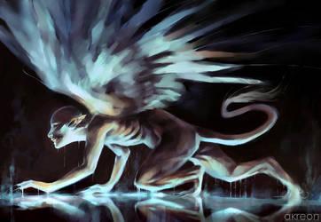 crouching sphinx by akreon