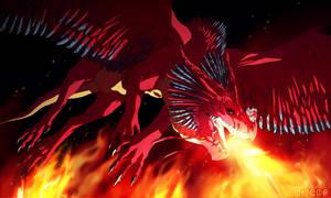 Lake of fire by akreon