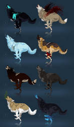 Wolves adoptables - CLOSED by akreon