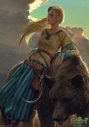 Gedyneith Flaminica - Gwent Card by akreon