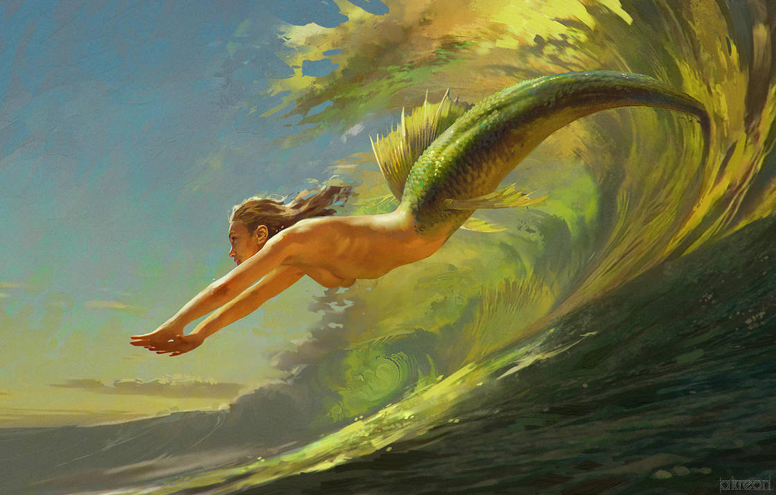 Jumping waves by akreon
