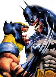 wolvie batman by rogercruz