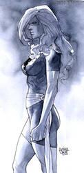 Dark Phoenix watercolour by rogercruz