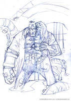 Hellboy pencils by rogercruz