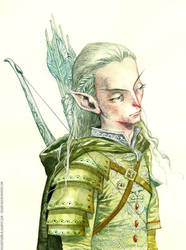 Legolas, LOTR, watercolour by rogercruz