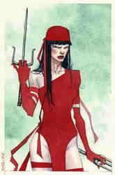 Elektra watercolor pic by rogercruz