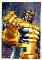watercolor-Thanos by rogercruz