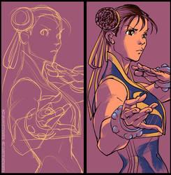 Chun Li digital art by rogercruz