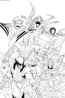 Uncanny X-Men First Class 2 Inks by rogercruz