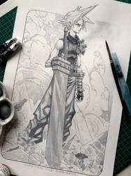 Cloud Strife - Final Fantasy 7 by Roger Cruz by rogercruz