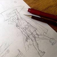 Eric the Cavalier Pencils by rogercruz