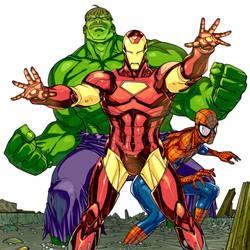 Marvel Adventures Super Heroes #4 by rogercruz