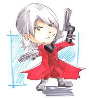 Chibi Dante by CrimsonLunacy