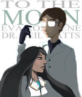 To the Moon - Eva and Neil by Merlandese