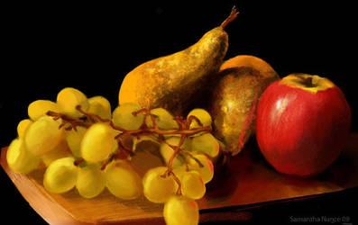 UNINTERESTING FRUIT by Flutterby727
