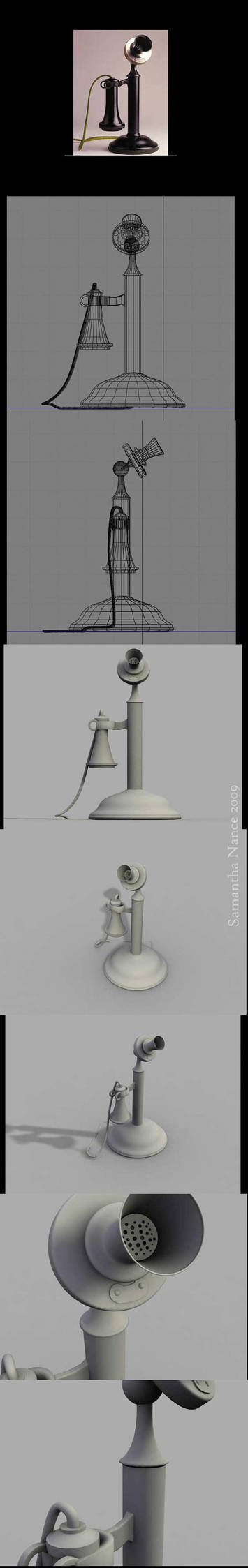 3D telephone by Flutterby727