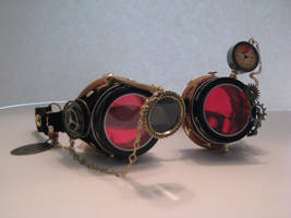 Steampunk Goggles by PrinceJillian