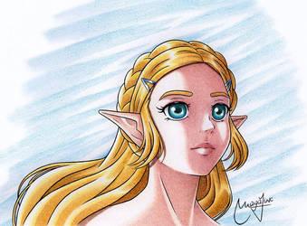 BotW Zelda by MrsMagalink