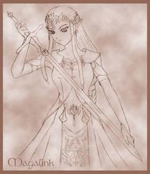 Zelda TP Sketch by MrsMagalink