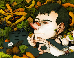 Carrot man by Thecreakyattic