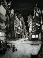 Town's Sun Set by Thecreakyattic