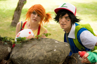 Misty and Ash Pokemon cosplay by UltraCosplay
