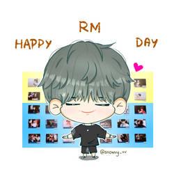 BTS RM Happy Birthday by Snowvy-Strawberry