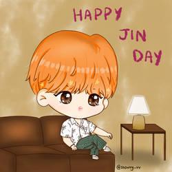 BTS Jin Happy Birthday by Snowvy-Strawberry