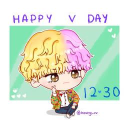 BTS V Happy Birthday by Snowvy-Strawberry
