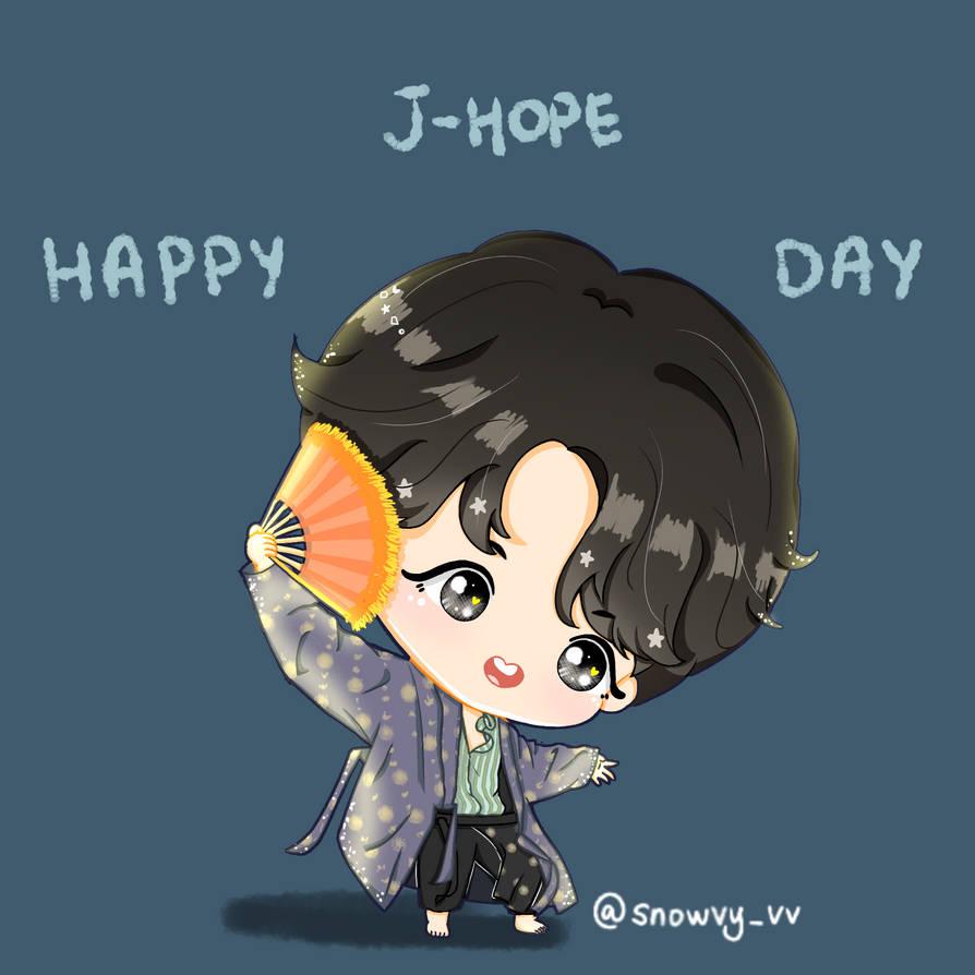 BTS J-Hope Happy Birthday by Snowvy-Strawberry