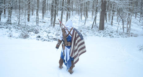 Assassins Creed 3 - In the snow by SquallWolfheart